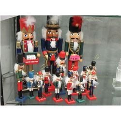 15 Assorted Wood Nutcracker Christmas Décor