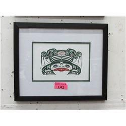 Richard Shorty Framed Print - Copper Tone Frog