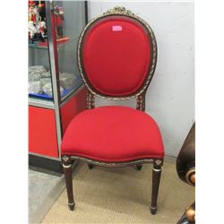 Fabric Upholstered Cameo Back Chair