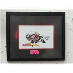 Richard Shorty Framed Print - Eagle & Salmon