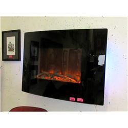 "New Dynasty 36"" Curved Wall-Mount Fireplace"