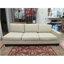 New Lind 7 Foot Beige Leather Sectional Part
