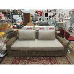 "New 87"" Sunbrella Patio Sofa with Seat Cushion"