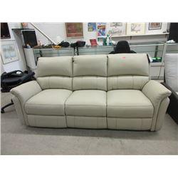 New Leggett & Platt Beige Reclining Sofa