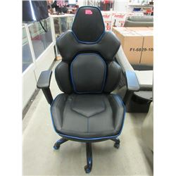 Black and Blue Gaming Chair - Store Return