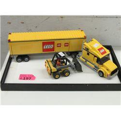 LEGO #3221 Big Truck with LEGO #60219 Loader