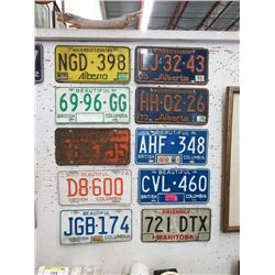 10 Vintage Canadian License Plates