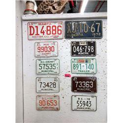 10 Vintage Canadian License Plates
