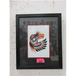 Richard Shorty Framed Print- Thunderbird Mask