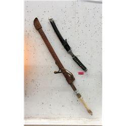Bone Handled Sword & Japanese Sword