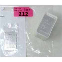 20 x 1 Oz. Asahi Refining .999 Silver Bars