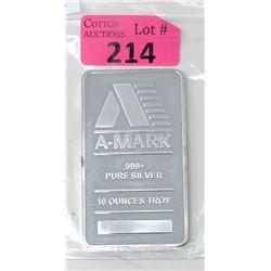 10 Oz. A-Mark .999+ SilverBar
