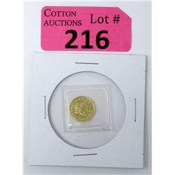 1/20 Oz..9999 Gold 1993 Canada Maple Leaf Coin