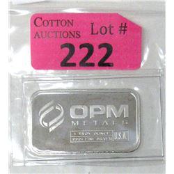 1Oz. Ohio Precious Metals .999 Silver Bar