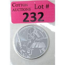 1Oz. Darth Vader .999 Silver 2019 Niue Coin