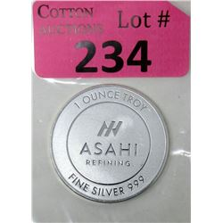 1Oz. Asahi Refining .999 Silver Art Round