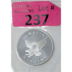 1Oz. Sunshine Minting .999 Silver Round