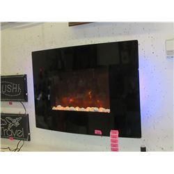 """New Dynasty 36"""" Curved Wall-Mounted Fireplace"""