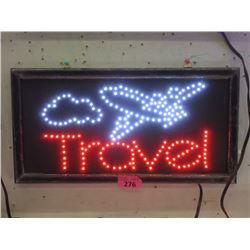 "New LED ""Travel"" Sign - 19"" x 10"""