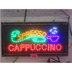 "New LED ""Cappuccino"" Sign - 19"" x 10"""