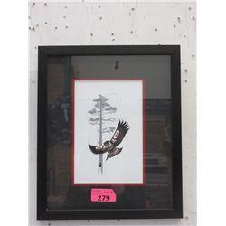 Richard Shorty Framed Print-  Owl Night Hunter