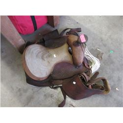 Small Leather Western Style Saddle