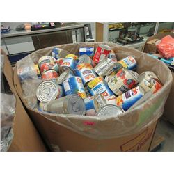 Skid of Assorted Dented Canned Food Products