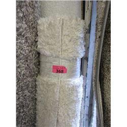 4' x 6' White Low Shag Area Carpet - Store Return