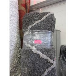 6' x 8' Grey Patterned Shag Area Carpet