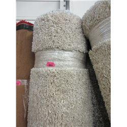 8' x 10' Ivory Shag Area Carpet - Store Return