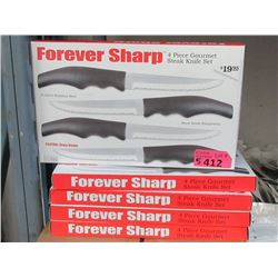 5 Sets of 4 Forever Sharp Steak Knife Sets
