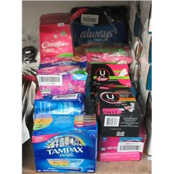 13 Assorted Feminine Hygiene Products