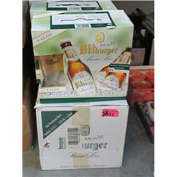 4 Cases of New Bitburger Beer Glasses