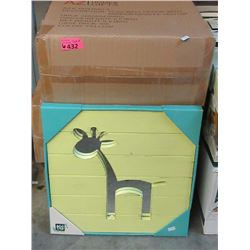 "6 Cases of 6 of New 15"" x 15"" Giraffe Mirrors"
