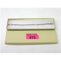 Amethyst and Diamond Tennis Bracelet