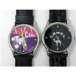 2 Camel Cigarette Advertising Watches