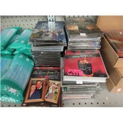 40 Assorted New DVD Movies & Music CDs