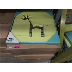 "6 Cases of 6 New 15"" x 15"" Giraffe Mirrors"