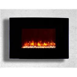 "New Dynasty 36"" Curved Wall-Mounted Fireplace"