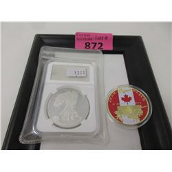 1 Walking Liberty & 1 Juno Beach Replica Coin