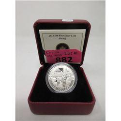 "2013 Canada .9999 Silver ""Hockey"" $10 Coin"