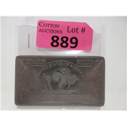 1 Troy Oz. .999 Fine Titanium Buffalo Bar