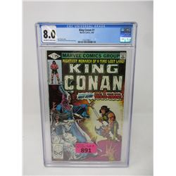 "Graded 1980 ""King Conan #1"" Marvel Comic"