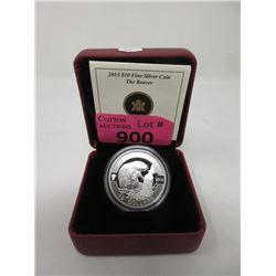 """2013 Canada .9999 Silver """"The Beaver"""" $10 Coin"""