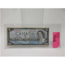 1954 Canadian $5 Bank Note  - MC Prefix