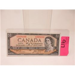 "1954 Canadian $50 ""Devil's Face"" Bank Note"