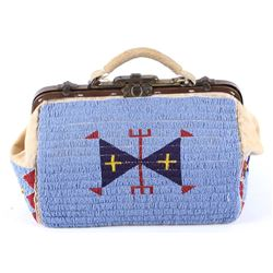 Lakota Sioux Fully Beaded Hide Doctors Bag 1890's