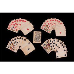 19th C. Square Cut Great Mogul Gambling Cards