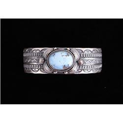 Navajo Golden Hills Turquoise Sterling Bracelet