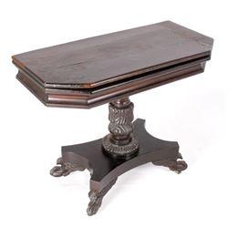 French Folding Mahogany Game Table c. 1740 RARE